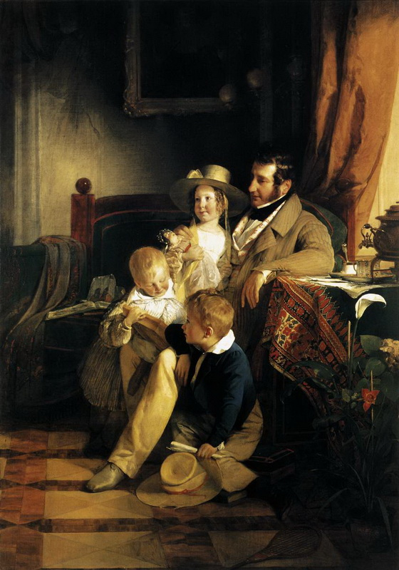 rudolf von arthaber with his children large redimensionner